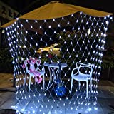 10x6.5Ft 320 LED Net Lights Indoor String Lights Party Christmas Xmas Wedding Home Garden Decorations 8 Modes for Flashing(Pure White)