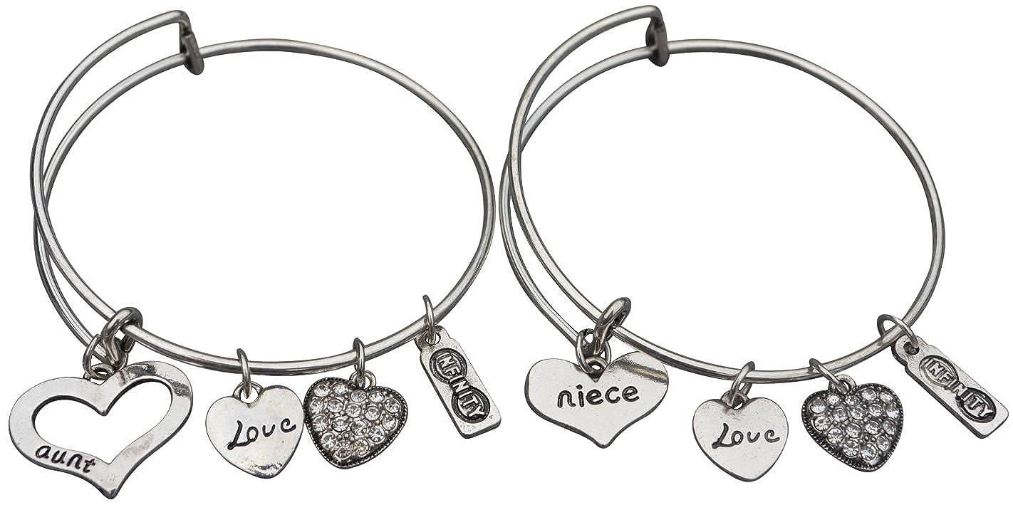Amazon Com Aunt Niece Bracelet Set Aunt Jewelry Bracelets For