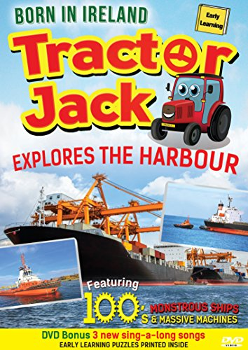 Tractor Jack (Explores The Harbour) (DVD) (2017) (Kids) (Learning) (Educational) (Knowledge) (Letters) (Numbers) (Harbour) (Boats) (Ships) (Ferries)