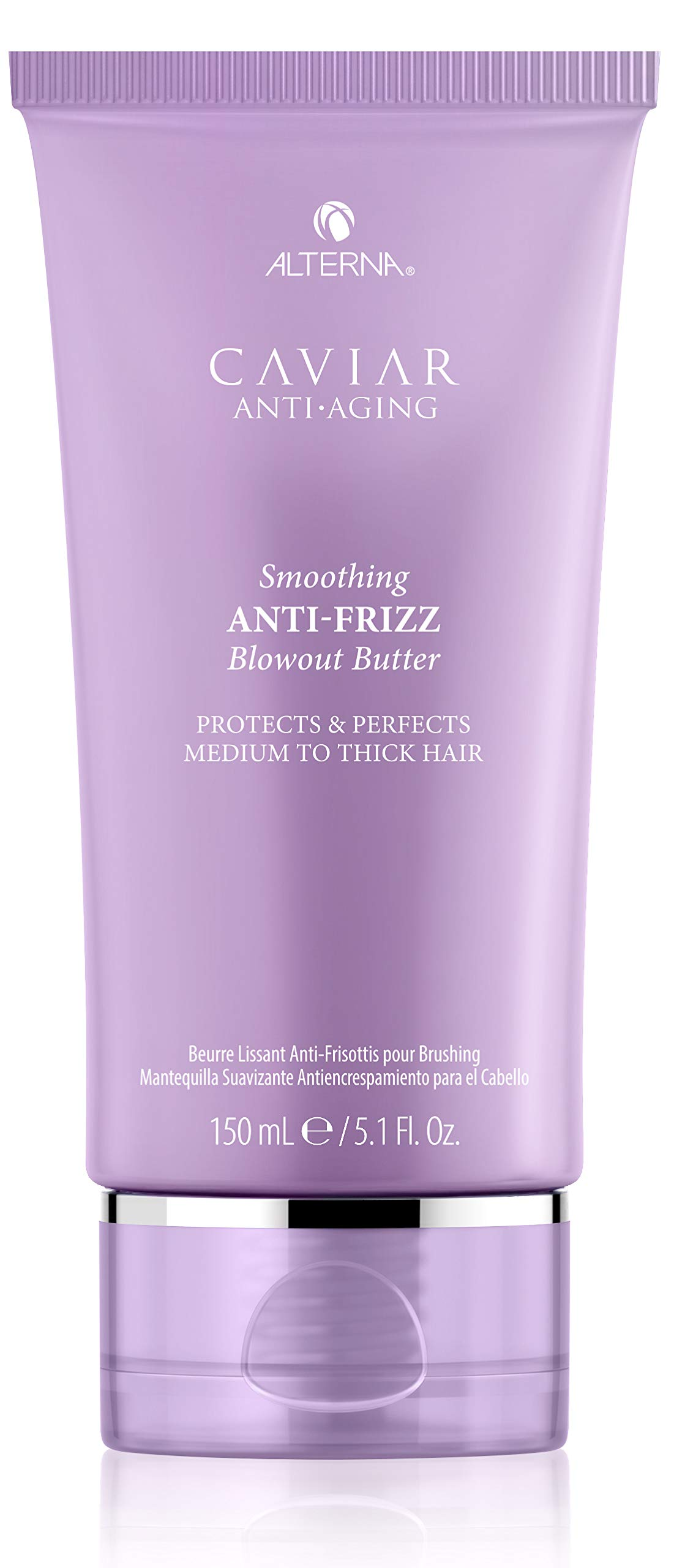 Alterna Caviar Anti-Aging Smoothing Anti-Frizz Blowout Butter, 5.1 Fl Oz | Protects Hair from Heat Styling and Humidity | Sulfate Free