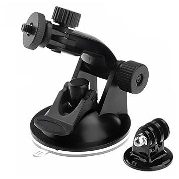 Ventosa soporte para cámara, 1/4 – 20 hilos resistentes de Full rotación coche