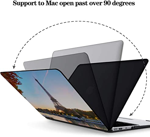 Mac Book Air Covers Scenic Freedom Travel City French Plastic Hard Shell Compatible Mac Air 11 Pro 13 15 Mac Pro Laptop Case Protection for MacBook 2016-2019 Version
