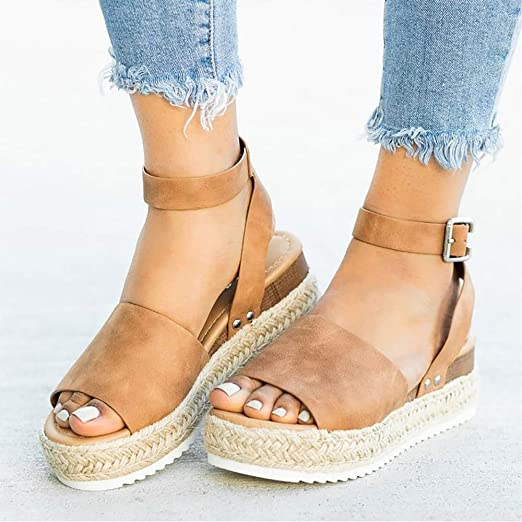 Women Shoes Leather Wedges Shoes