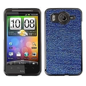 TopCaseStore / la caja del caucho duro de la cubierta de protección de la piel - Fabric Fashion Blue Pattern - HTC G10