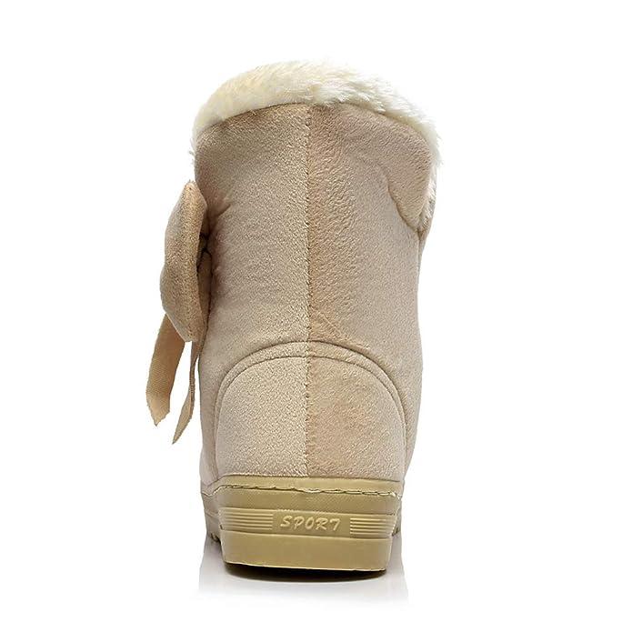 Impermeabile Stivali Scarpe Neve da con da Zeppe Donna Gtagain tBqYwf1B