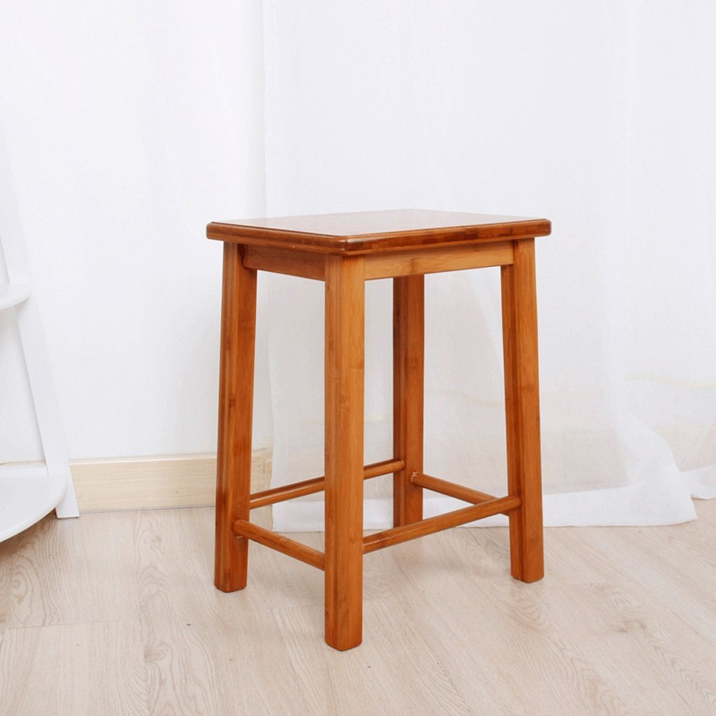 TangMengYun Solid Wood Square Stool Bamboo Simple Creative Stool Children Solid Wood Stool Leisure Stool 32 25 44cm