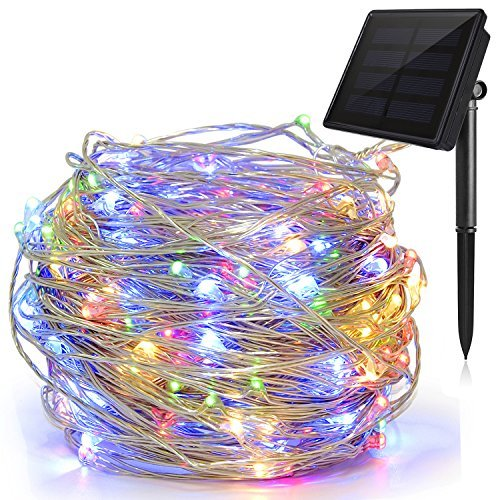 Solar String Lights Multi Color, Ankway 200 LED Fairy Lights