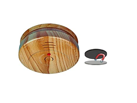 Detector de humo con aspecto de madera, batería de 5 años e instalación fácil mediante