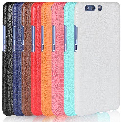 Funda Huawei P10 Plus, SunFay Funda Posterior Protector de PC Carcasa Back Cover de Parachoques Piel PU Protectora de Teléfono Para Huawei P10 Plus - Rosa Azul Verde