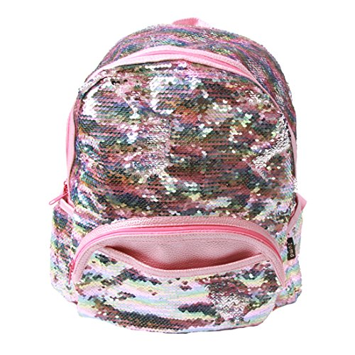 Zumd Sequin Woman School Backpack/Daily Backpack (Pink) -