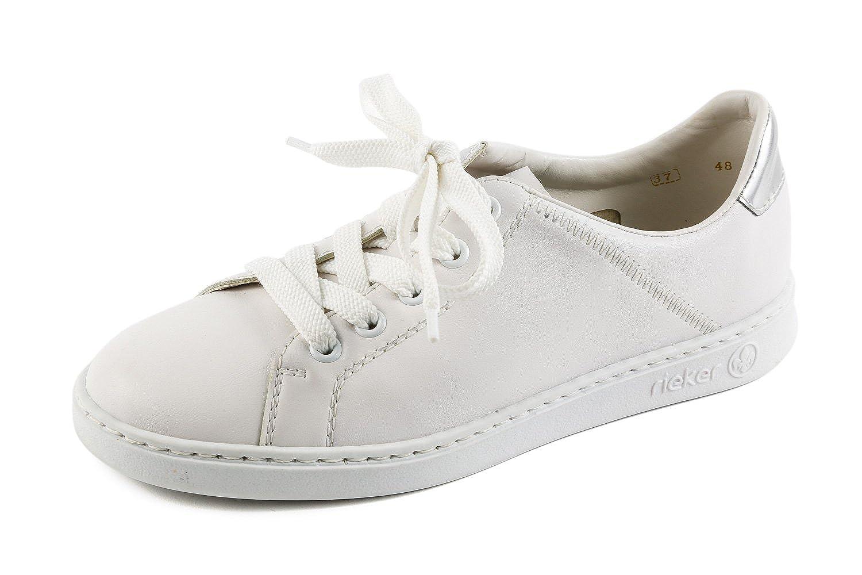 Rieker Samples RK1-204 - Zapatillas de Sintético para Mujer Blanco Blanco 37 EU