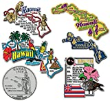 Six-Piece State Magnet Set - Hawaii