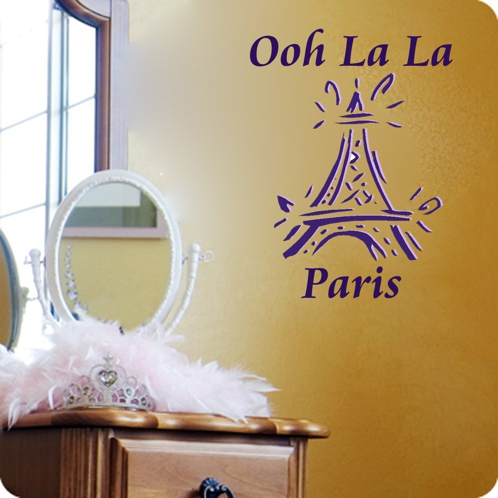 Amazon.com: Oh La La Paris Eiffel tower- on sale vinyl wall decals ...