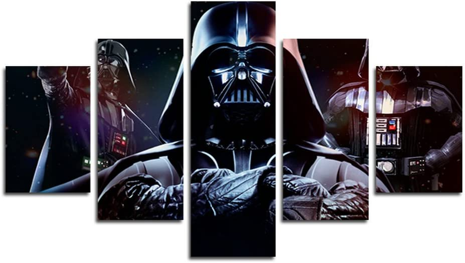 AtfArt 5 Piece HD Printed Star Wars Darth Vader Print on Canvas Painting of Canvas Printing Room Decor Prints Image (No Frame) Unframed far244 50 inch x30 inch...