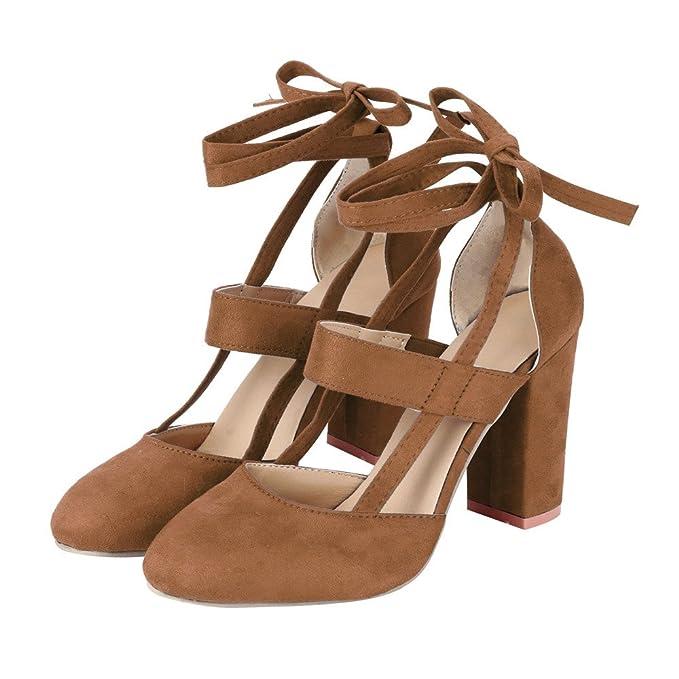 Liquidación! Covermason Moda Mujer Sandalia de tacón de aguja Sandalia de tacón de tobillo para