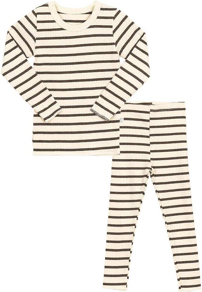 AVAUMA Baby Boys Girls Pajama Set 6M-8T Kids Cute Toddler Snug fit Pjs Cotton Sleepwear