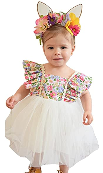 Girls Floral Tutu Flower Dress Boutique Clothes And Dresses For Baby Girl