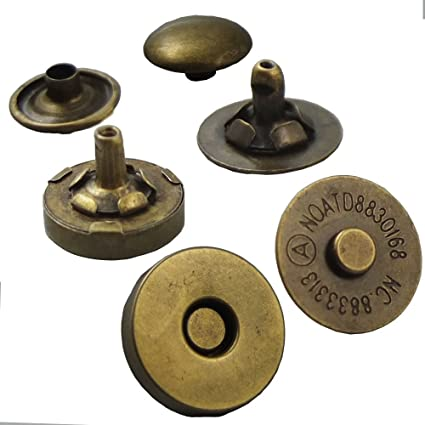 strongly magnetic 20sets   F76 20mm Thin Gunmetal magnetic snap closure bag button
