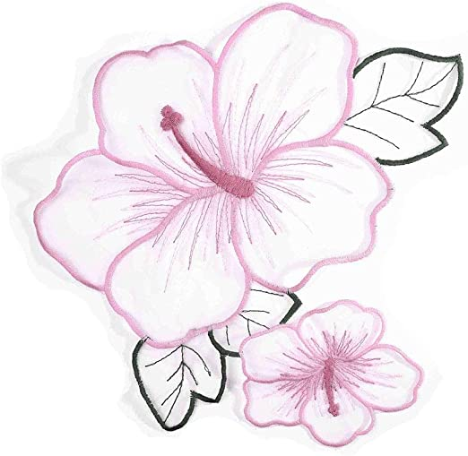 Hongma 2 Parches para Coser de Tul con Hojas de Flores para ...