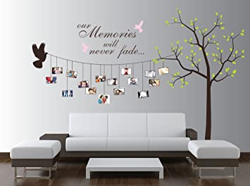 Large Photo Tree Wall Decal Customizable Family Tree Decal Wall
