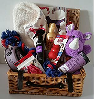 Dog hampers luxury puppy present easter gift amazon pet dog hampers luxury gift hamper for dogs special dog treat negle Images