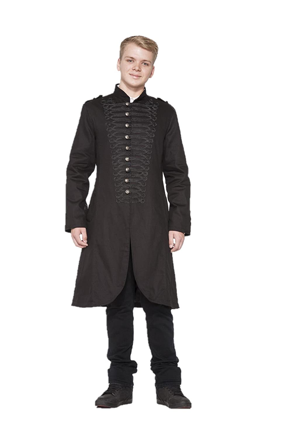 Men's Steampunk Clothing, Costumes, Fashion Hearts & Roses Military Coat (Shipped from The US and US Sizes) $98.88 AT vintagedancer.com