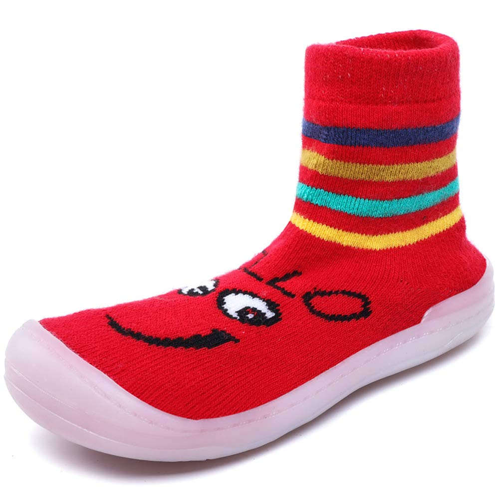 Scurtain Baby Toddler Lightweight Sock Slippers Comfortable Socks Boots Non-Slip Cute Animals Socks Shoes Scurtain-HX001