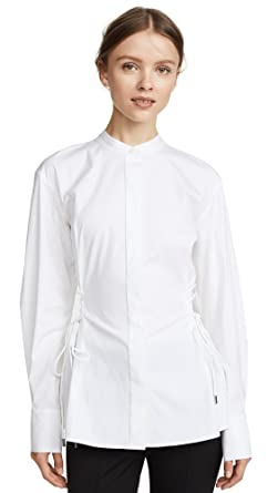 5fe010533b Amazon.com: Theory Women's Laced Button Down, White, Large: Clothing