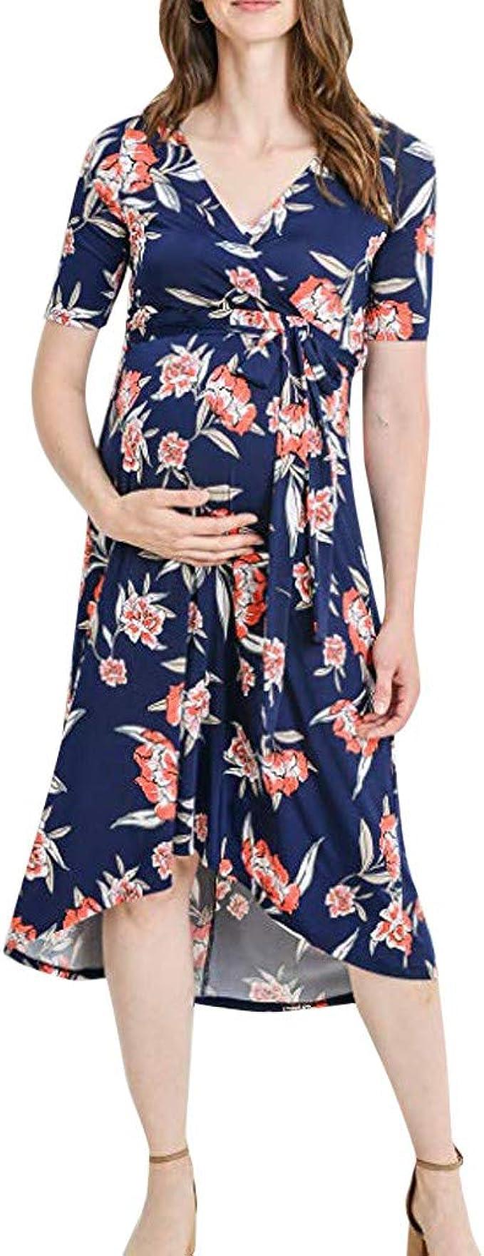 Mujer Ropa Premamá SUNNSEAN Verano Vestido de Maternidad Faldas de ...