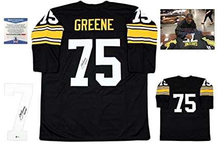 Autographed Joe Greene Jersey - Beckett LS Black - Beckett Authentication - Autographed  NFL Jerseys a3a81d14b