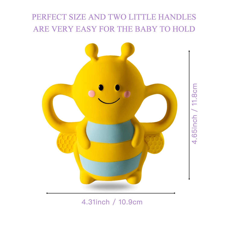 Amazon.com: Juguete de dentición para bebé, puro mordedor de ...