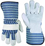 Custom Leathercraft 2048XL Work Gloves with Leather Palm and 4.5-Inch Safety Cuff, Extra Large