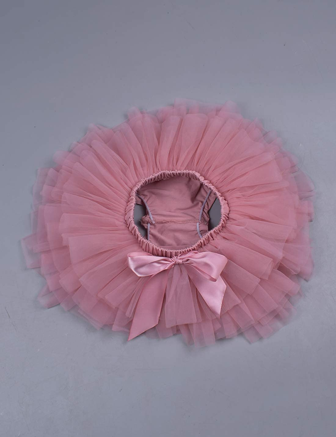 Baby Girls Ruffle Bottom Tutu Bloomers Toddler Tulle Diaper Cover Bloomer and Headband Set