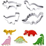 Myhouse 4 pcs / Set Stainless Steel Animal Dinosaurs DIY Cake Decorating Mold Cookie Cutters Biscuit Baking Tools