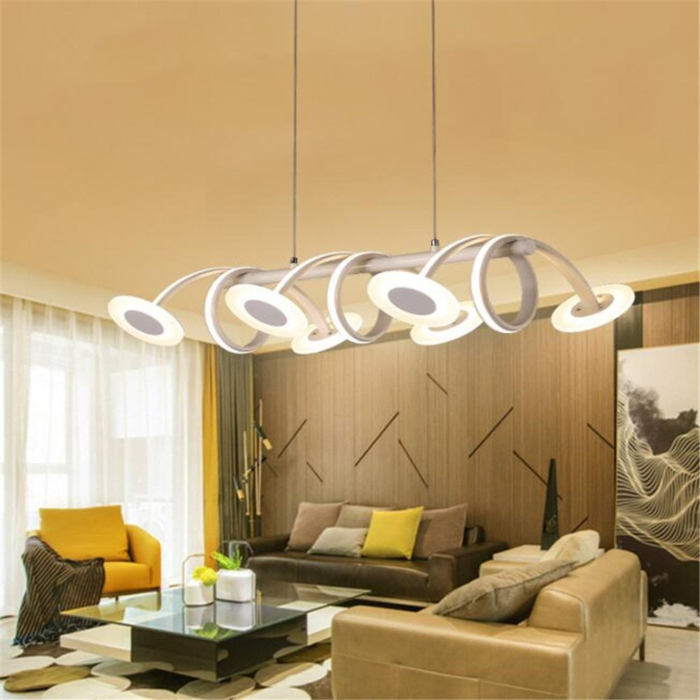 LED Chandelier Dimmable Horseshoe 6 Head Contemporary Ceiling Light Acrylic Adjustable Pendant Light For Living Room Bedroom Dining Room Entrance Balcony Hotel Room Exhibition Hall 110 V-240 V