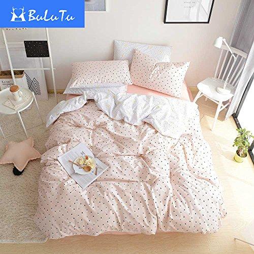 bulutu black triangle girls bedding duvet cover set twin pink cotton premium soft 3 pieces. Black Bedroom Furniture Sets. Home Design Ideas