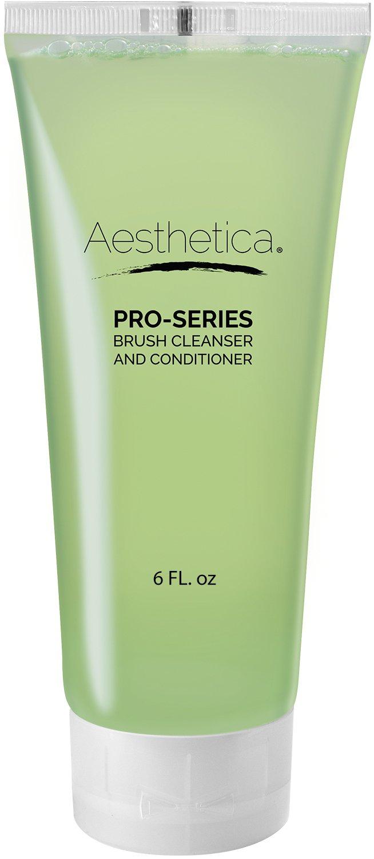 Aesthetica Makeup Brush Cleaner – Cruelty Free Make Up Brush Shampoo for any Brush, Sponge or Applicator - Made in USA - 6 oz.