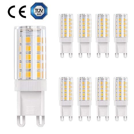 Bombillas LED G9 de 5W, URAQT Lámparas LED, 5W Equivalentes a Lámparas halógenas de