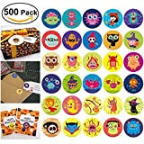 Toys : Halloween Stickers for Kids, Roll Stickers with Pumpkin Monster Witch and etc 30 Cute Designs, Perfect for Halloween Candy Bags Fillers or Prizes, 500 Pieces