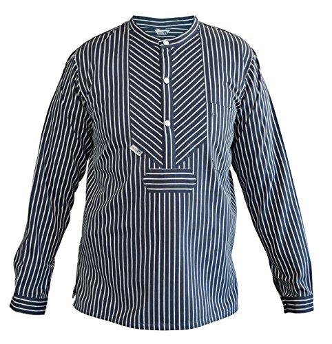 Fischerhemd Basic breit gestreift Finkenwerder Skipper Finkenwerder