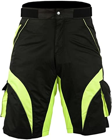 Men/'s Gel Padded Baggy Cycling Shorts MTB Bike Short Pants Downhill Liner Shorts