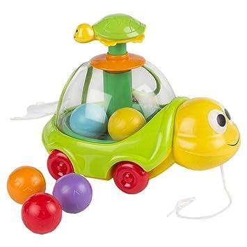 WinFun - Tortuga eléctrica de arrastre que interactúa con el niño (ColorBaby 44228)