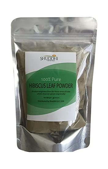 Amazoncom 100 Pure Hibiscus Leaf Powder Hibiscus Rosa Sinensis