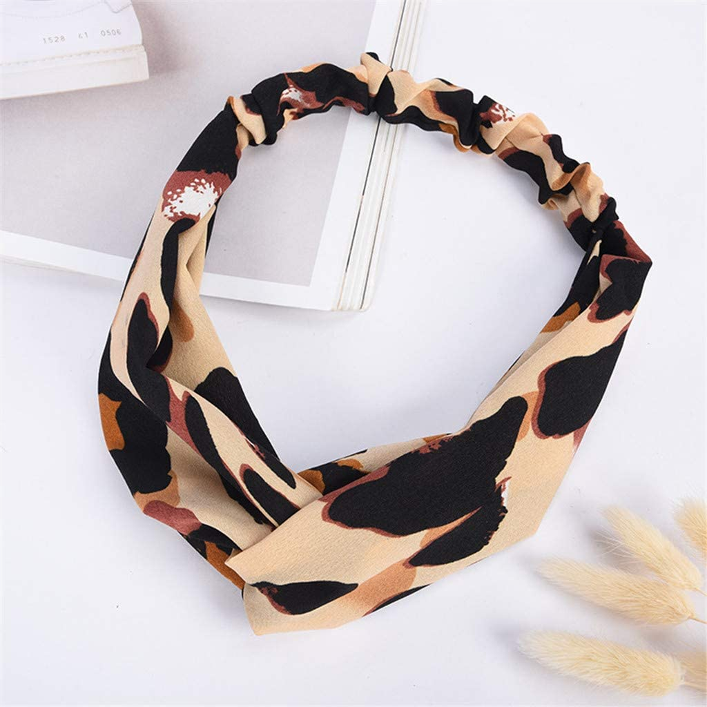 KUDICO Cheap Hair Band Clearance!!!Womens Fashion Leopard Print Stretchy Twisted Cute Headband Accessories