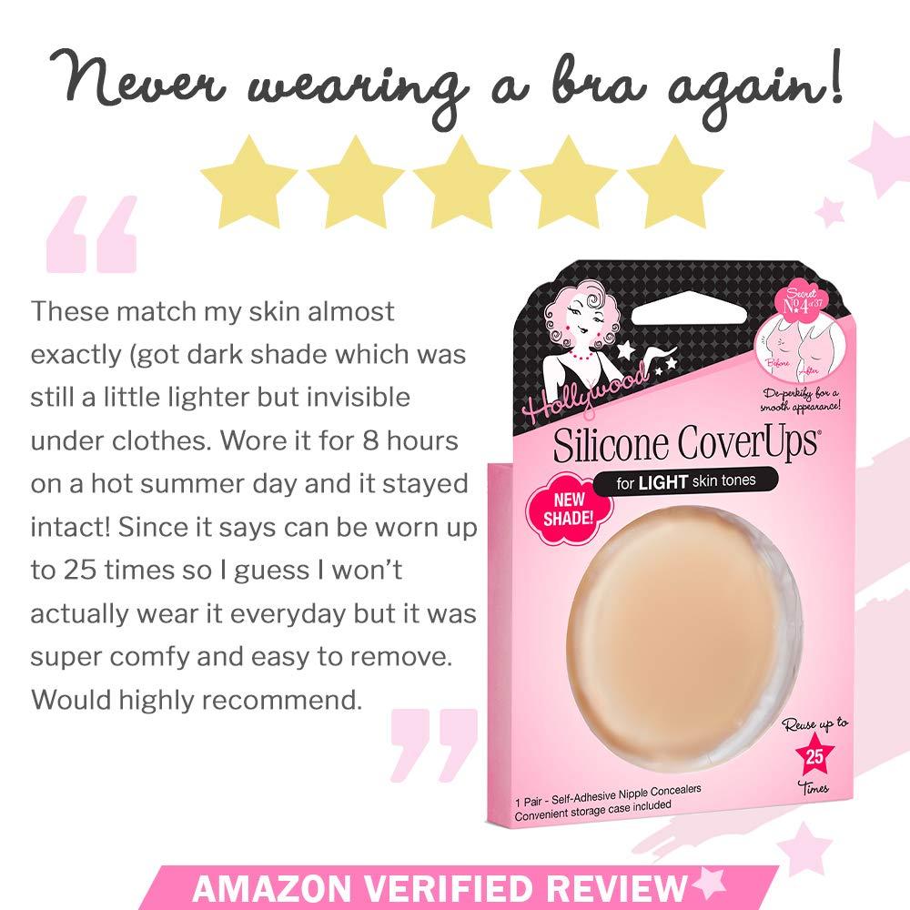 Hollywood Fashion Secrets Silicone Nipple Coverups Light Shade 1 pair