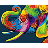 ifymei Paint by Numbers for Kids & Adults & Beginner , DIY Canvas Painting Gift Kits 16 x 20 inch - Elephants