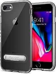 【Spigen】 スマホケース iPhone8 ケース / iPhone7 ケース 対応 Qi充電 クリア 二重構造 スリム スタンド機能 クリスタル・ハイブリッド 042CS20459 (ガンメタル)