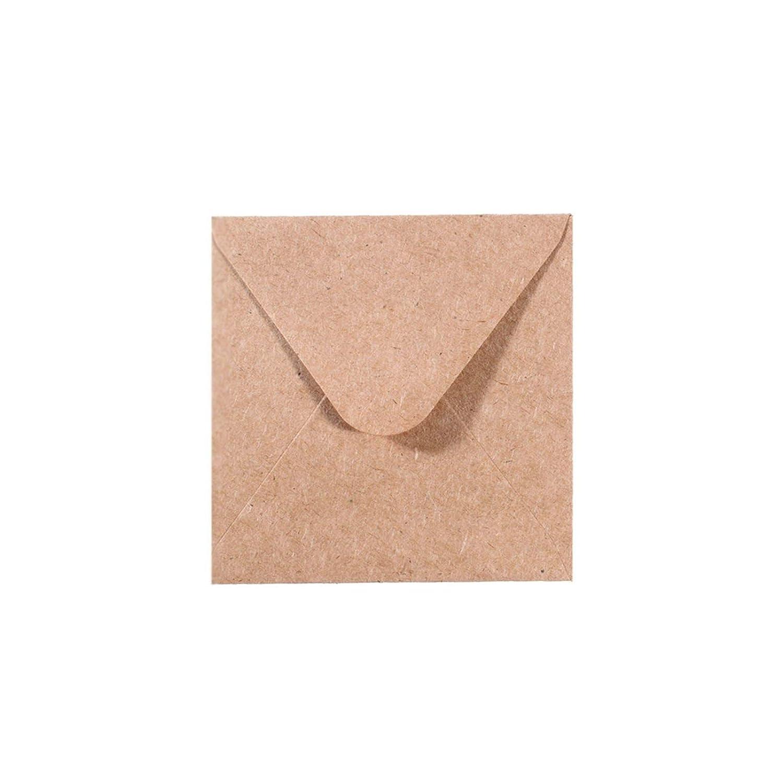 Bianche Biglietti Coordinati Disponibili Set di 5 Buste Quadrati Piccoli Florence di Vaessen Creative per Biglietti di Auguri
