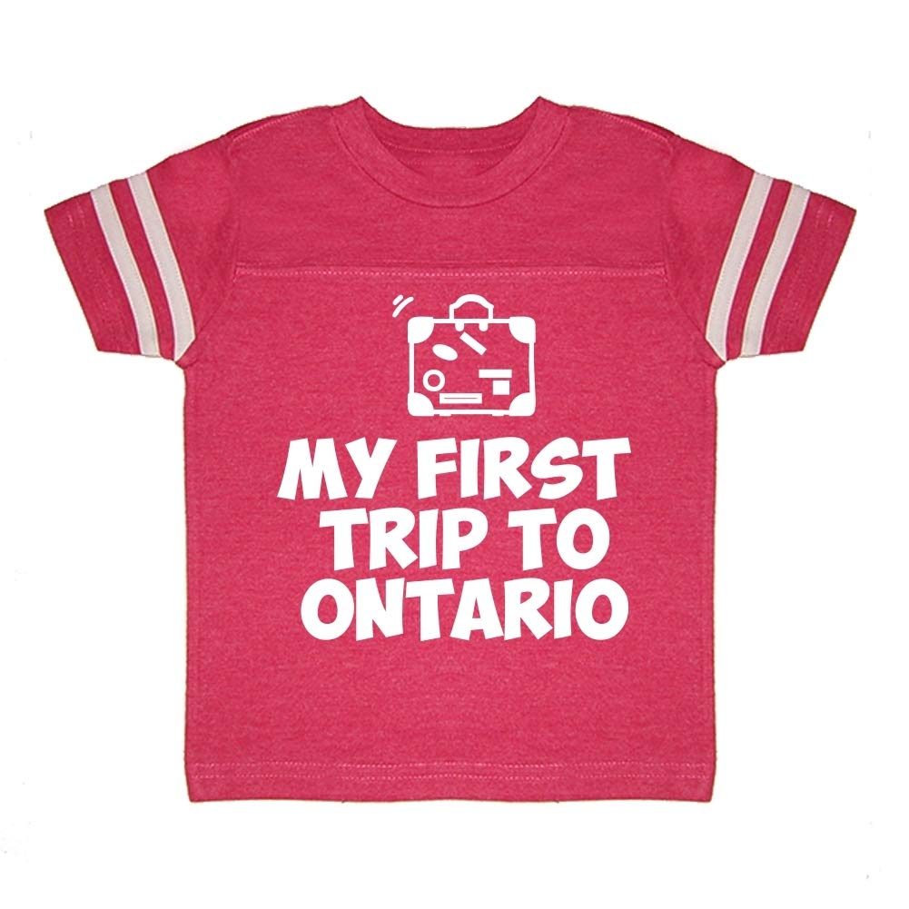 Toddler//Kids Sporty T-Shirt Mashed Clothing My First Trip to Ontario