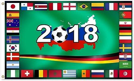 MC-Trend WM 2018 en Rusia – Bandera de con todos los países ...